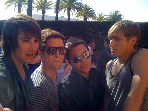 Big Time Rush on the Red Carpet at the 2010 mtv Movie Awards