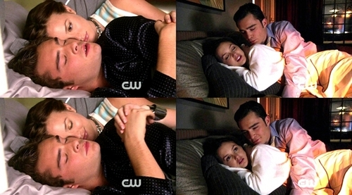 Chuck and Blair spooning