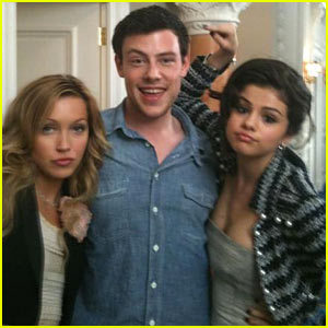 Cory on set with Monte Carlo co-stars Selena Gomez and Katie Cassidy