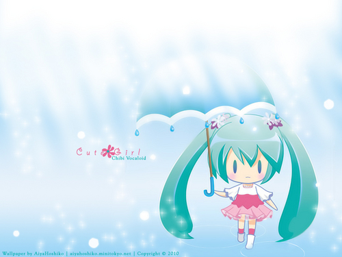 Vocaloids wallpaper entitled Cute Girl