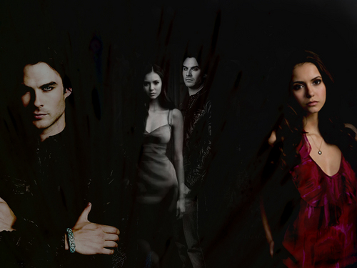 The Vampire Diaries images Elena&Damon <3 HD wallpaper and background photos