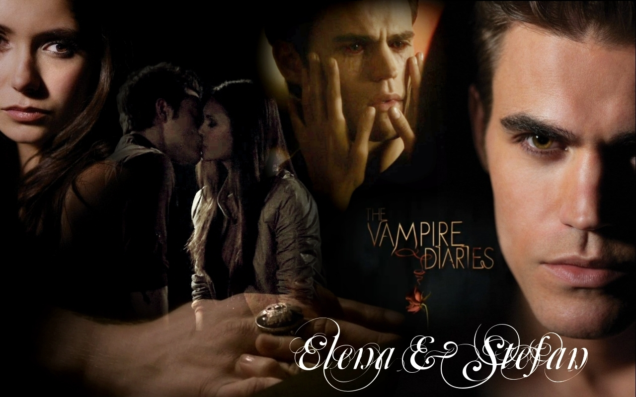 The Vampire Diaries TV Show Elena & Stefan