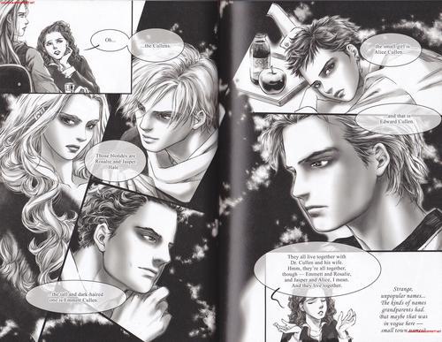 Emmett & Rosalie karatasi la kupamba ukuta called Emmett and Rosalie in 'Twilight Graphic Novel: Volume 1'