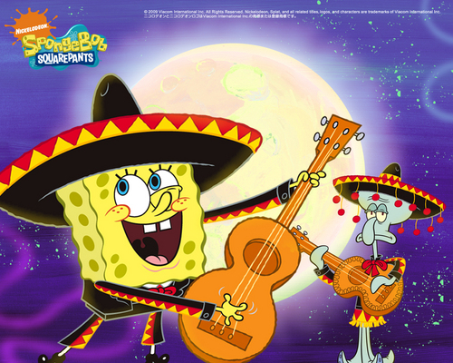 Guitar - spongebob-squarepants Wallpaper