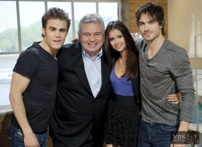 Ian,Paul and Nina on The Morning Show (2/6/2010) - the-vampire-diaries photo