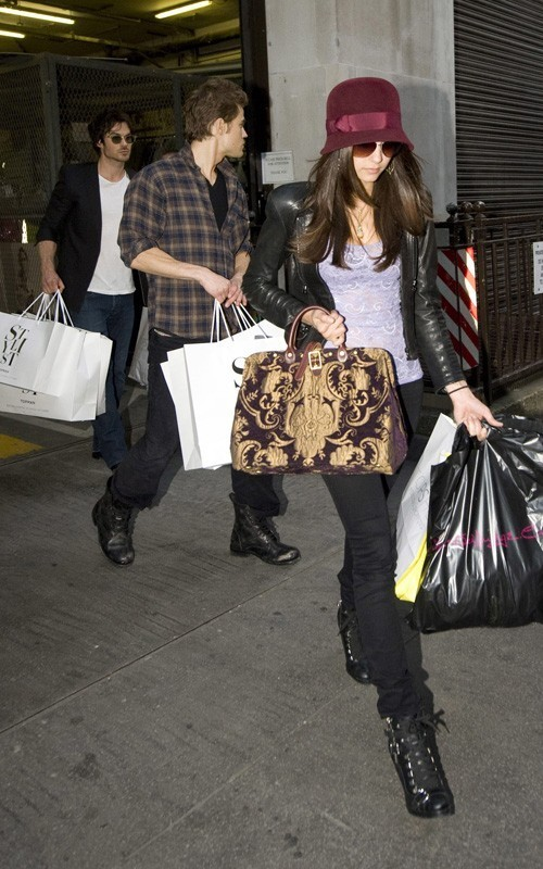Ian,Paul and Nina out in London (4/6/2010) - the-vampire-diaries photo