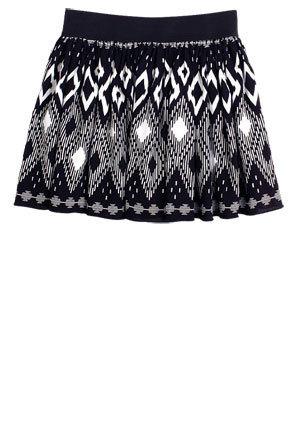 Isadora Black-Multi skirt, upindo
