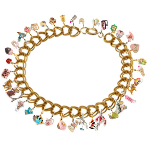 Polyvore wallpaper called Jennifer's charm bracelet. DO NOT STEAL.
