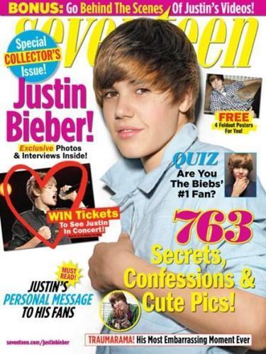 Justin Bieber in Seventeen!