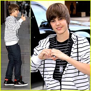Justin being cute!and hott!