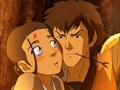 Katara is trapped with Jet - zuko-and-katara photo