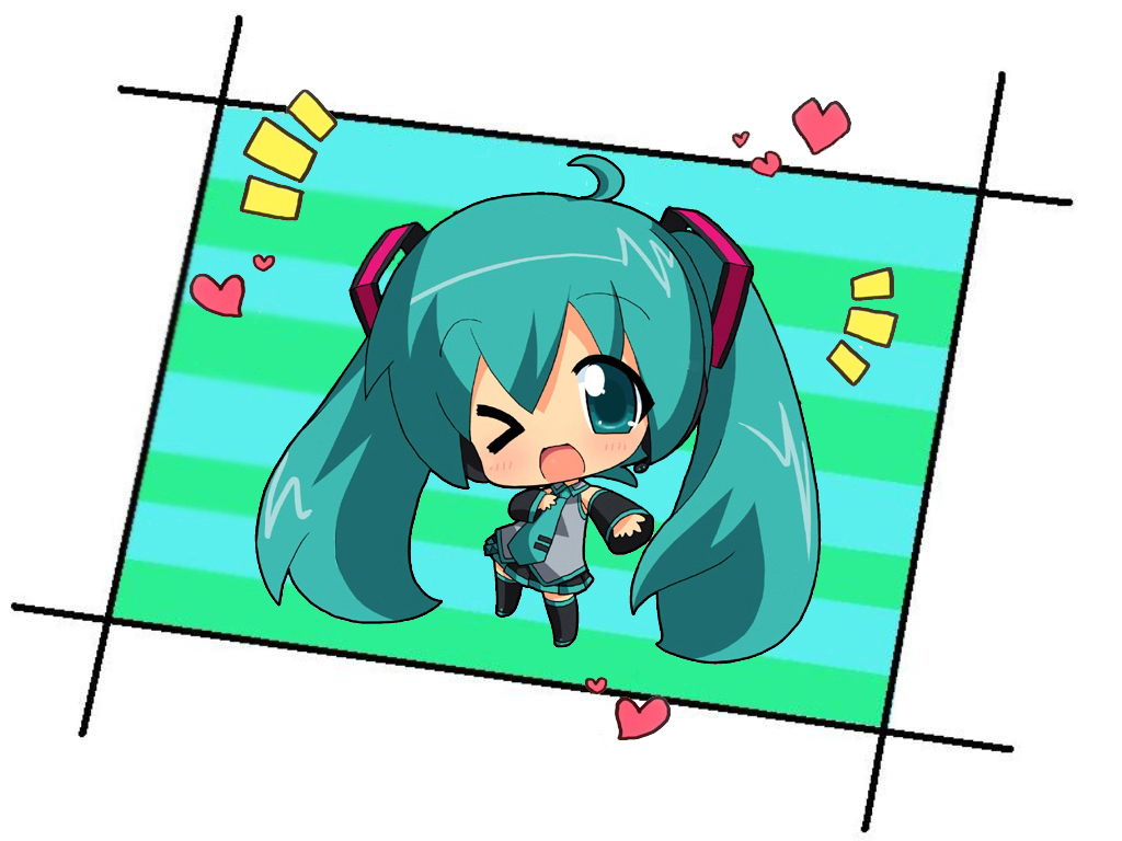 Vocaloids images Miku Hatsune Chibi HD wallpaper and ... Hatsune Miku Chibi Wallpaper
