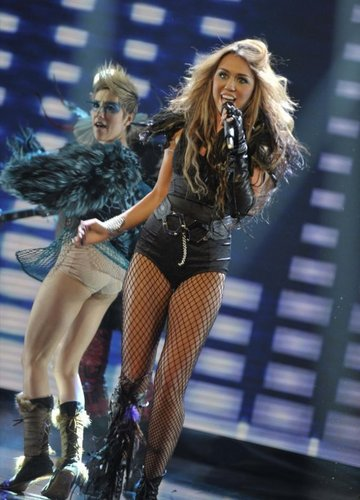 Miley can't be tamed at britain's got talent