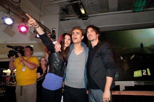 Paul With His Arm Around Nina <3