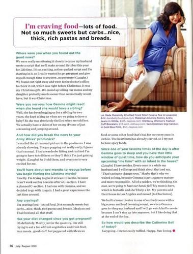 ক্যাথরিন বেল দেওয়ালপত্র entitled Pregnancy Magazine