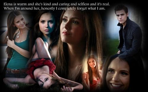 Stefan about Elena