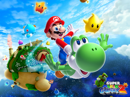 Yoshi wallpaper called Super Mario Galaxy 2
