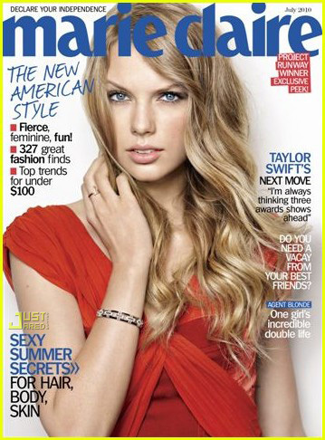Taylor snel, swift Covers 'Marie Claire' Jule 2010