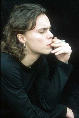 Ville Valo 壁纸 titled The blood on our hands is the wine...We offer as sacrifice