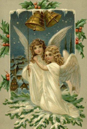 Vintage giáng sinh thiên thần