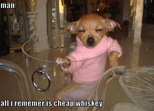 man all i rememer is cheap whiskey