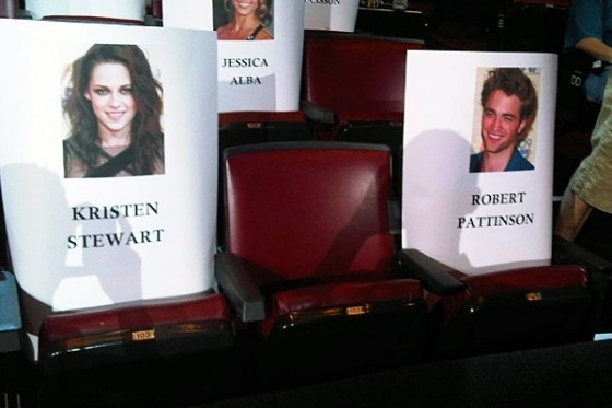 robsten MTV Movie Awards Seats