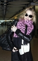Madonna arrving at Heathrow airport, London