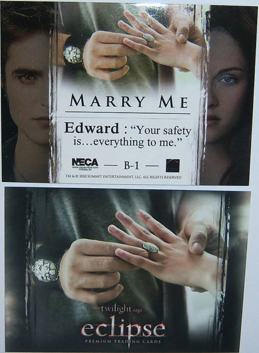 """New Eclipse Trading Card - """"Marry Me"""""""