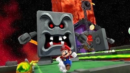 A Whomp, in Super Mario Galaxy 2.