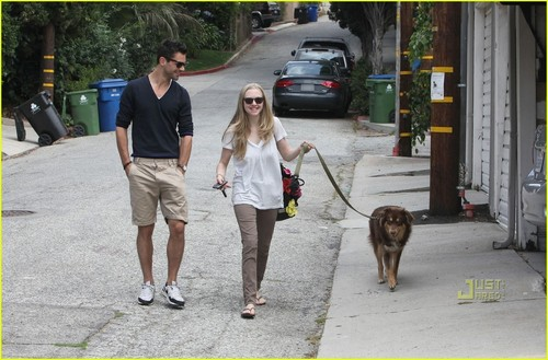 Amanda and Dominic out and about in LA June 11th,2010