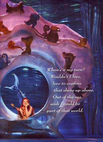 Ariel in her Grotto with dinglehopper