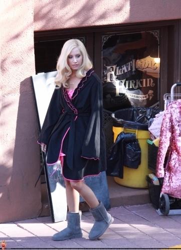 Ashley on set 'Sharpay's Fabulous Adventure'