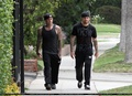 BENJI AND JOEL OUT FOR A STROLL (08TH JUNE 10)