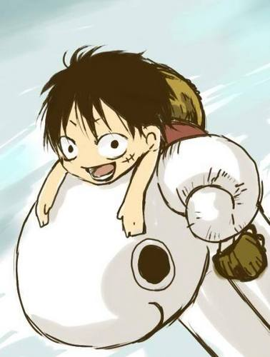 Monkey D. Luffy wallpaper titled Chibi Luffy