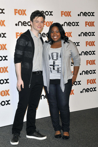 Chris Colfer and Amber Riley Promote 'Glee' in Spain