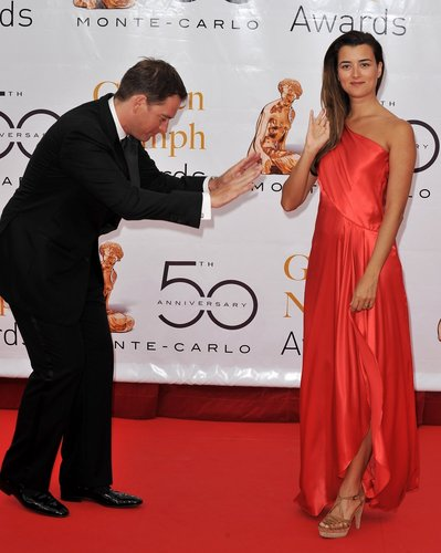 Cote de Pablo and Michael Weatherly at 2010 Monte Carlo Televisione Festival Closing Ceremony