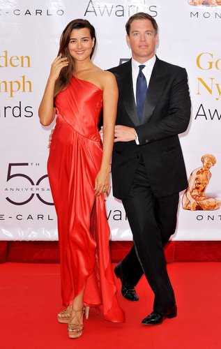 Cote de Pablo and Michael Weatherly at 2010 Monte Carlo televisheni Festival Closing Ceremony