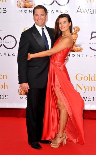 Cote de Pablo and Michael Weatherly at 2010 Monte Carlo Television Festival Closing Ceremony