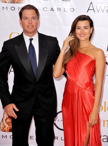 Cote de Pablo and Michael Weatherly at 2010 Monte Carlo テレビ Festival Closing Ceremony