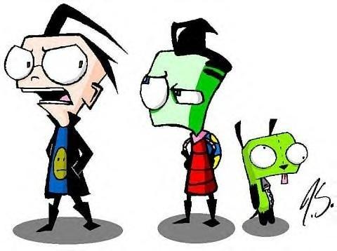Dib, Zim, and GIR!!!