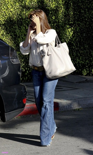 Eva leaving a hair salon in Hollywood 5/7/10