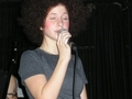 Hayley in an Afro wig (Simple Plan Tour: 31/10/05) - paramore photo