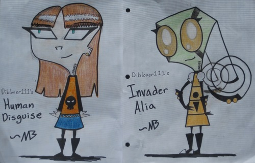 Invader Zim FanCharacters wallpaper titled Invader Alia contest!