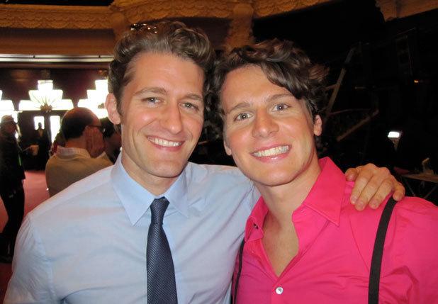 Jonathan's last hari on the set of Glee!