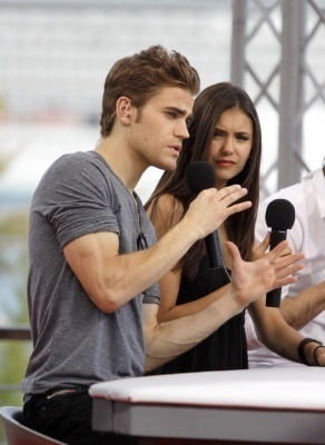June 8, 2010: Doing an interview outside at the Monte Carlo Television Festival
