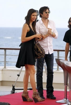 June 8, 2010: Doing an interview outside at the Monte Carlo televisão Festival