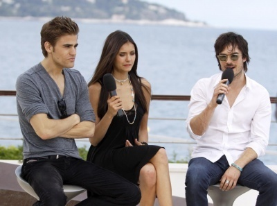 June 8, 2010: Doing an interview outside at the Monte Carlo Fernsehen Festival