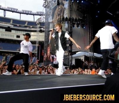 Justin Bieber performance at Gillete Staduim