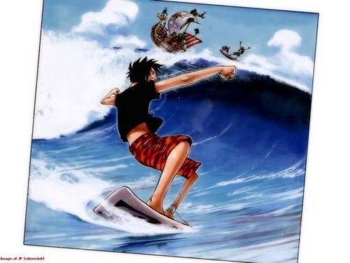 Luffy Surfing