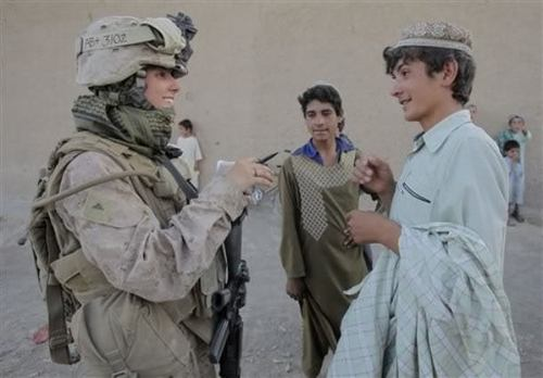 Marine With Female Engagement Team